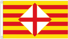 Spain Catalonia Barcelona Province 5'x3' (150cm x 90cm) Flag